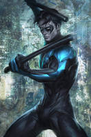 Wing of Night by Artgerm