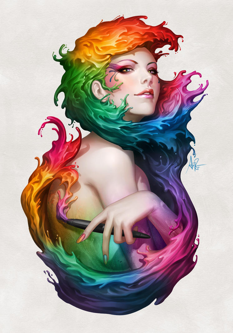Angel of Colors by Artgerm