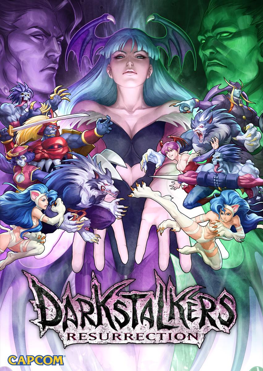 Darkstalkers Resurrection Key Art