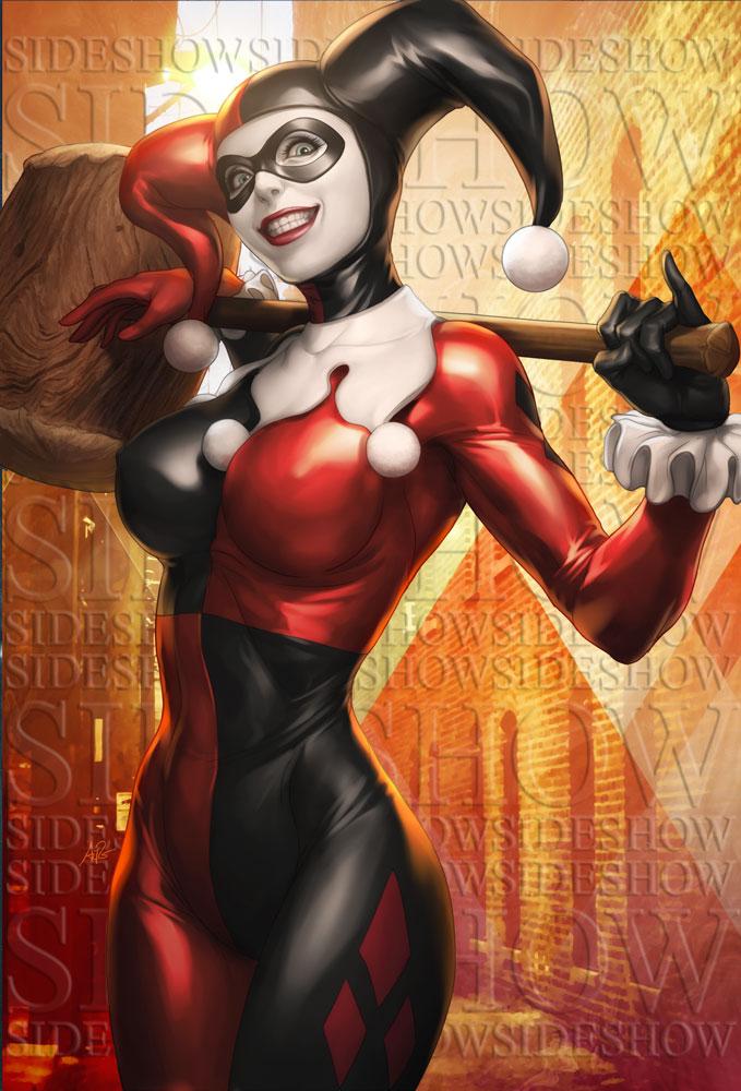 Harley Quinn Sideshow Art by Artgerm