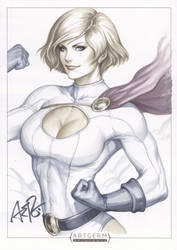 Power Girl Original Art 1 by Artgerm