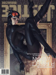 Justice Mag - Catwoman by Artgerm