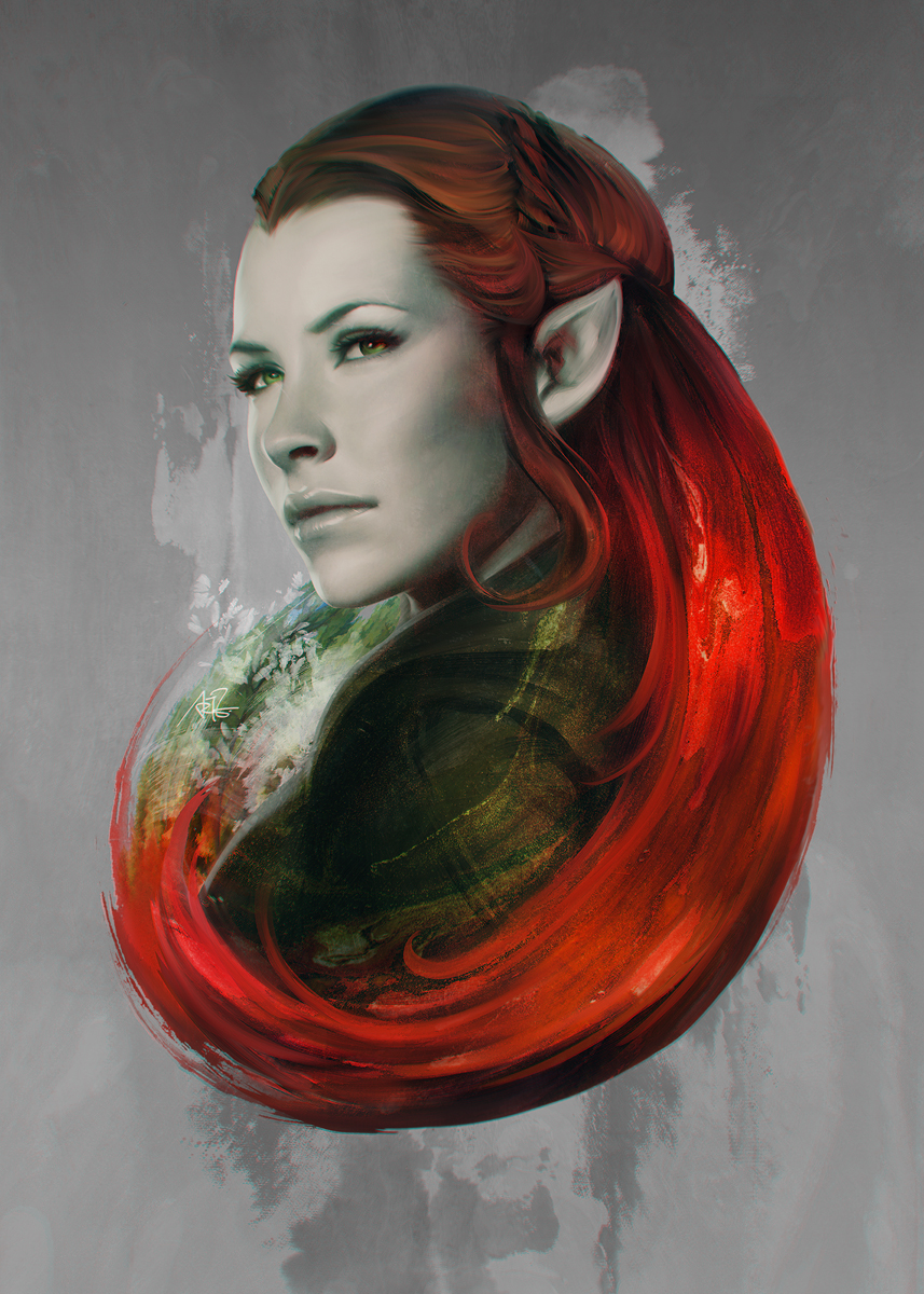 Head of Elven by Artgerm