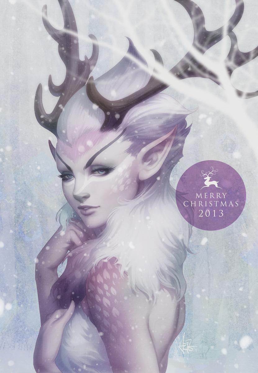 Reindeer Princess by Artgerm
