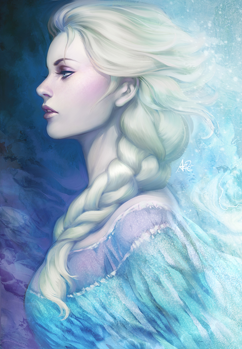 frozen queen by artgerm on deviantart. Black Bedroom Furniture Sets. Home Design Ideas
