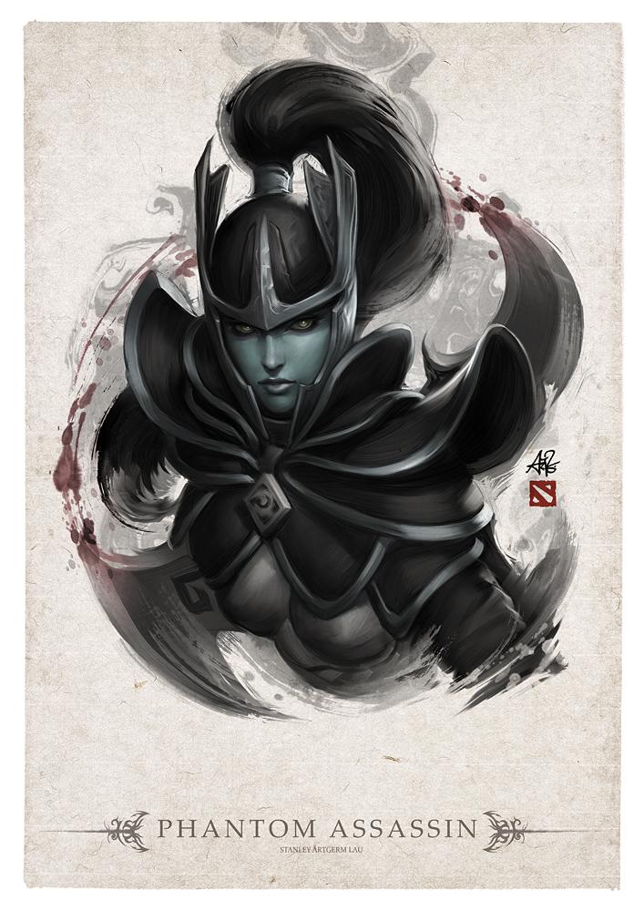 phantom assassin portrait by artgerm on deviantart