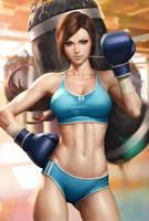 Beautiful Boxer by Artgerm