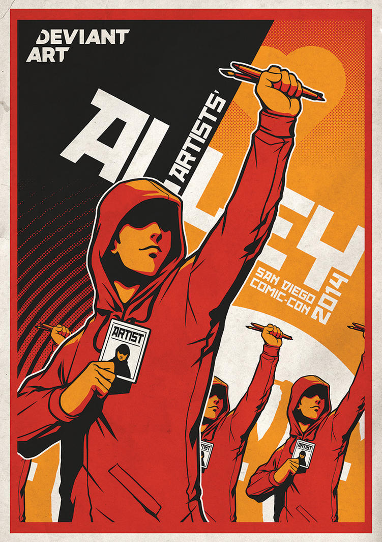 DeviantART San Diego Comic Con 2014 Poster by Artgerm