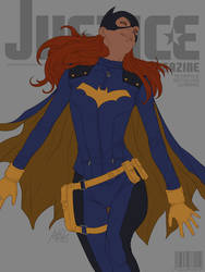 Batgirl Justice Magazine lines by Artgerm