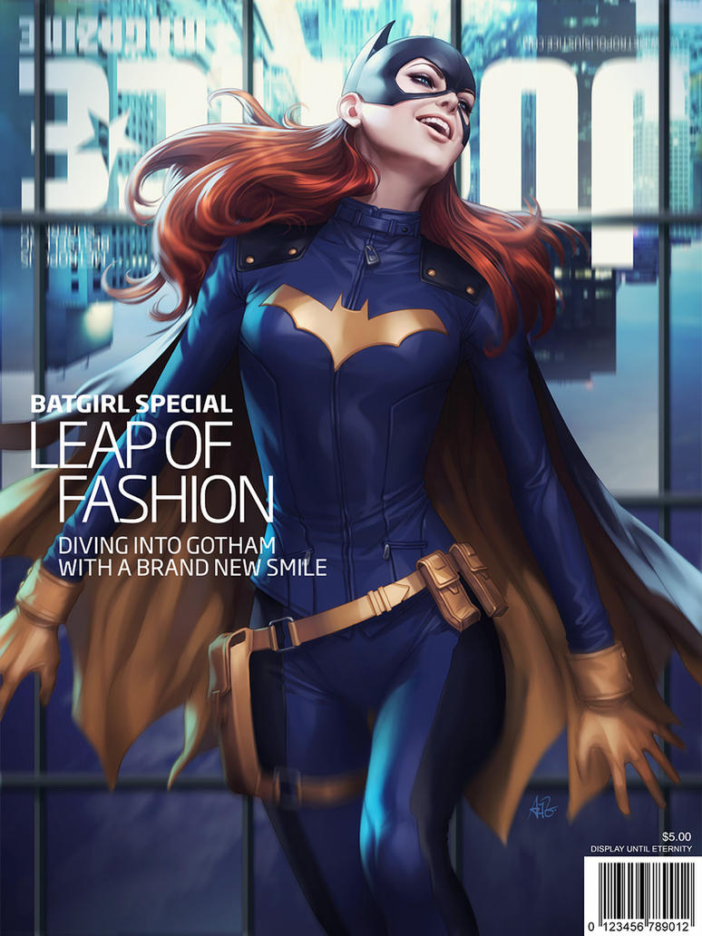 Batgirl Justice Magazine by Artgerm