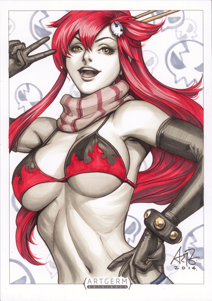 Yoko Littner original art by Artgerm