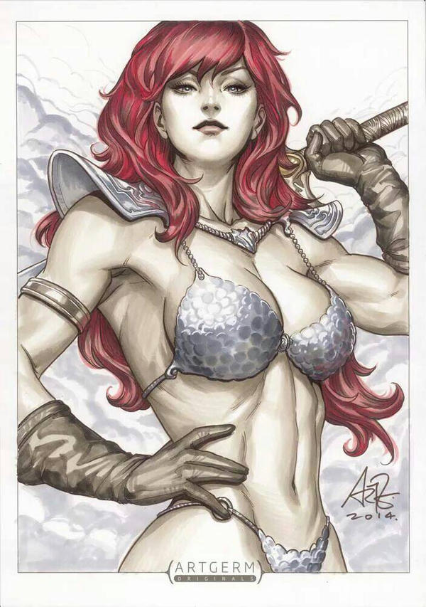 Galeria de Arte (4): Marvel e DC - Página 5 Red_sonja_commission_by_artgerm-d88edx6