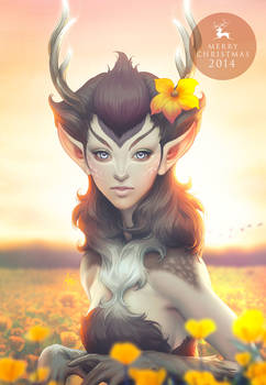 Deer princess 2014 by Artgerm