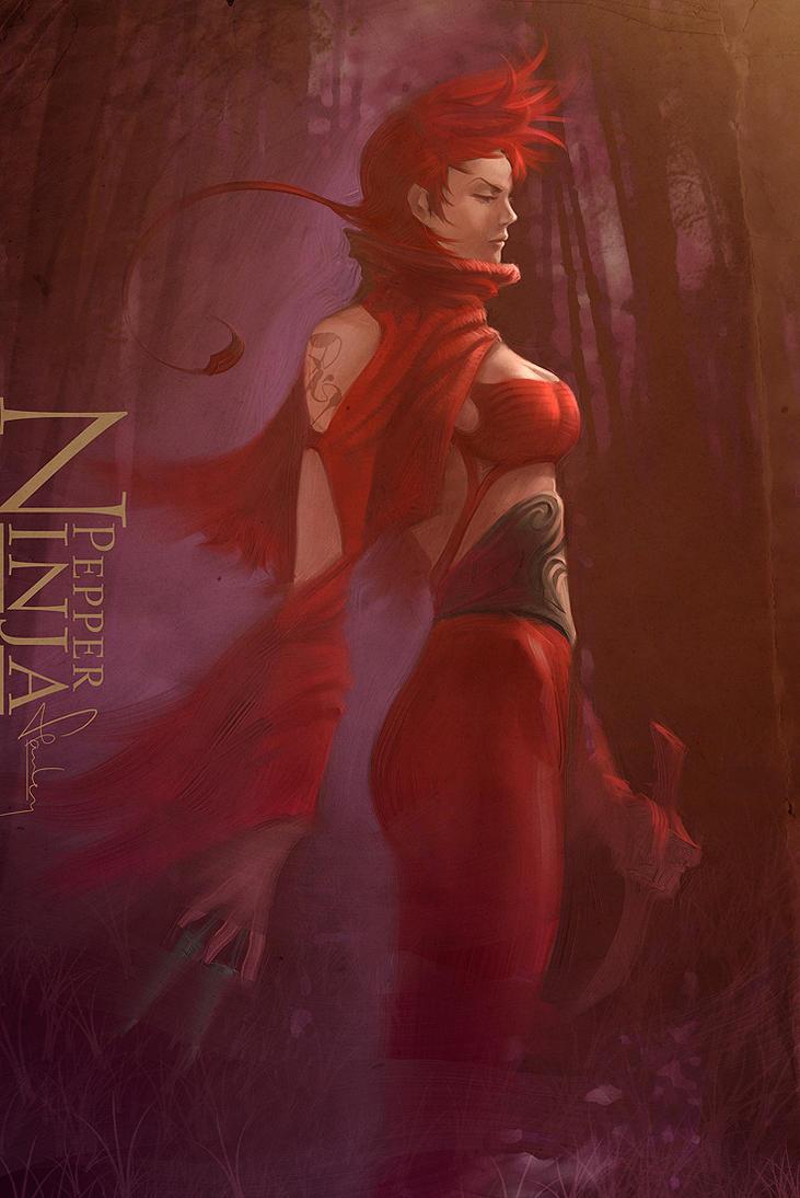 Ninja Pepper by Artgerm