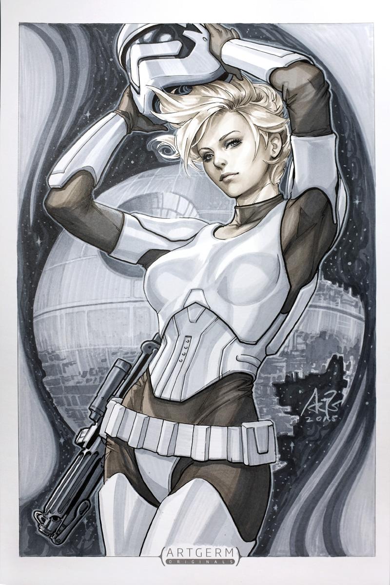 Ms Stormtrooper by Artgerm