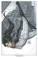 Spider Silk original art by Artgerm