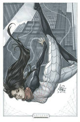 Spider Silk original art by Artgerm