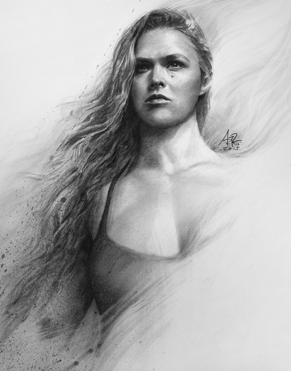 "Ronda Rousey 7/"" x 5/"" Photo Print By Stanley Lau"