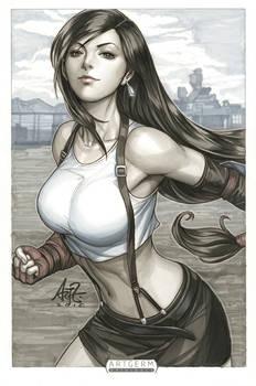 Tifa Lockhart2 Original Art