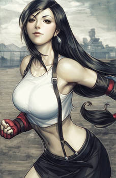 Tifa Lockhart Colorised