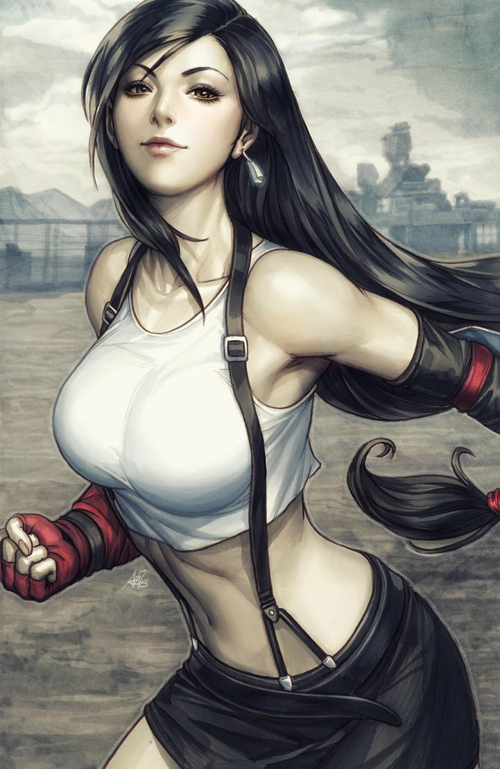 Tifa Lockhart Colorised by Artgerm