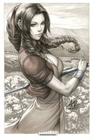 Aerith Original Art by Artgerm