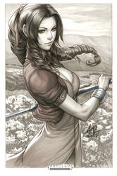 Aerith Original Art by Artgerm