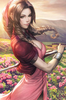 Aerith Gainsborough Colorised