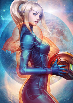 Samus Aran suit up