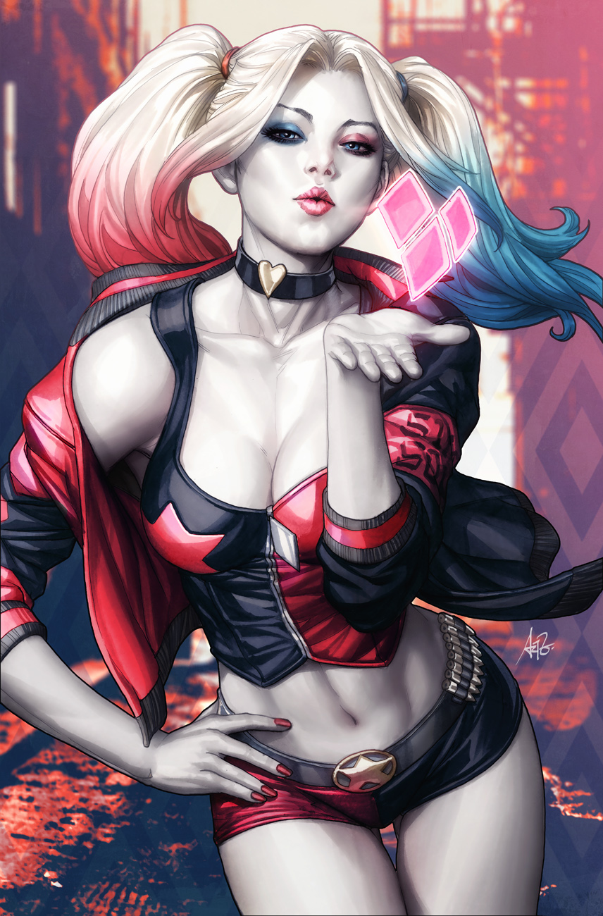 Harley Rebirth Issue 1 Variant Cover by Artgerm