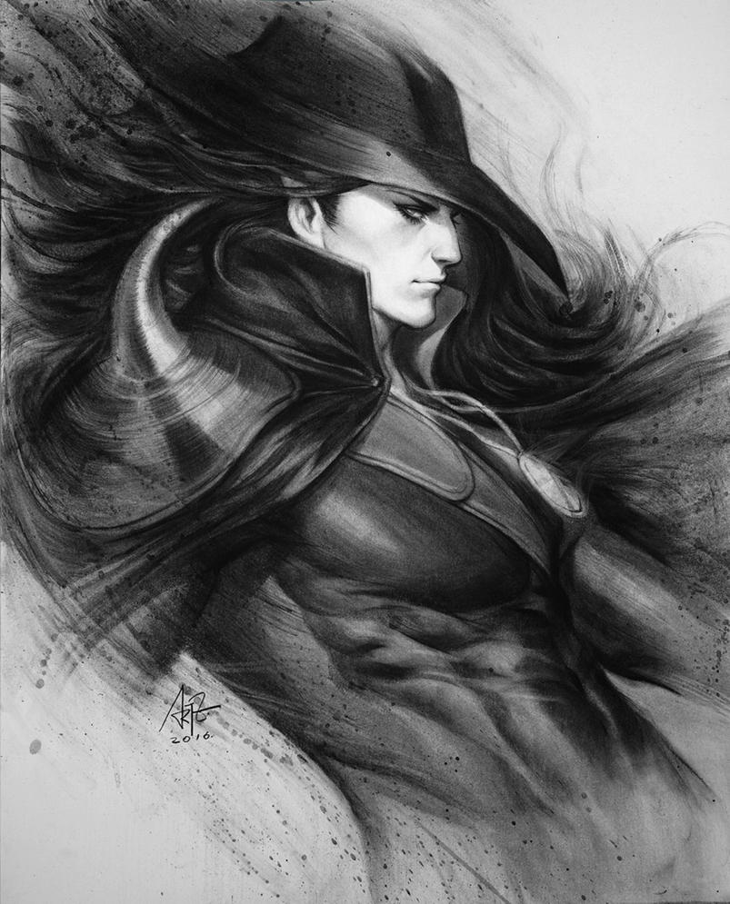 Vampire Hunter D Charcoal Drawing By Artgerm On Deviantart