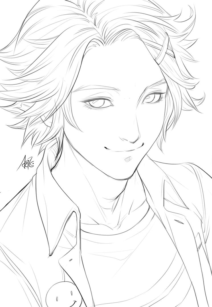 Yoosung Sketch for Coloring by Artgerm on DeviantArt