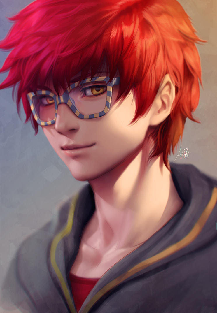 Anime boy with red hair tumblr