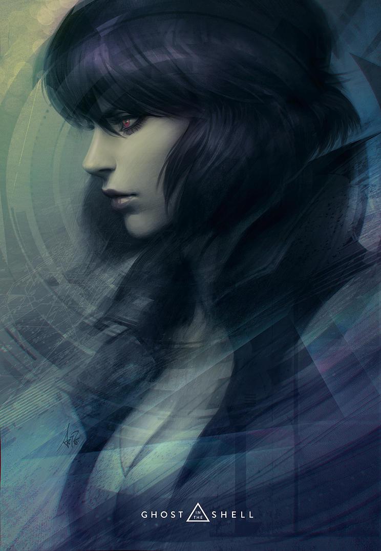 Motoko Portrait by Artgerm