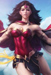 Wonder Woman Descend by Artgerm
