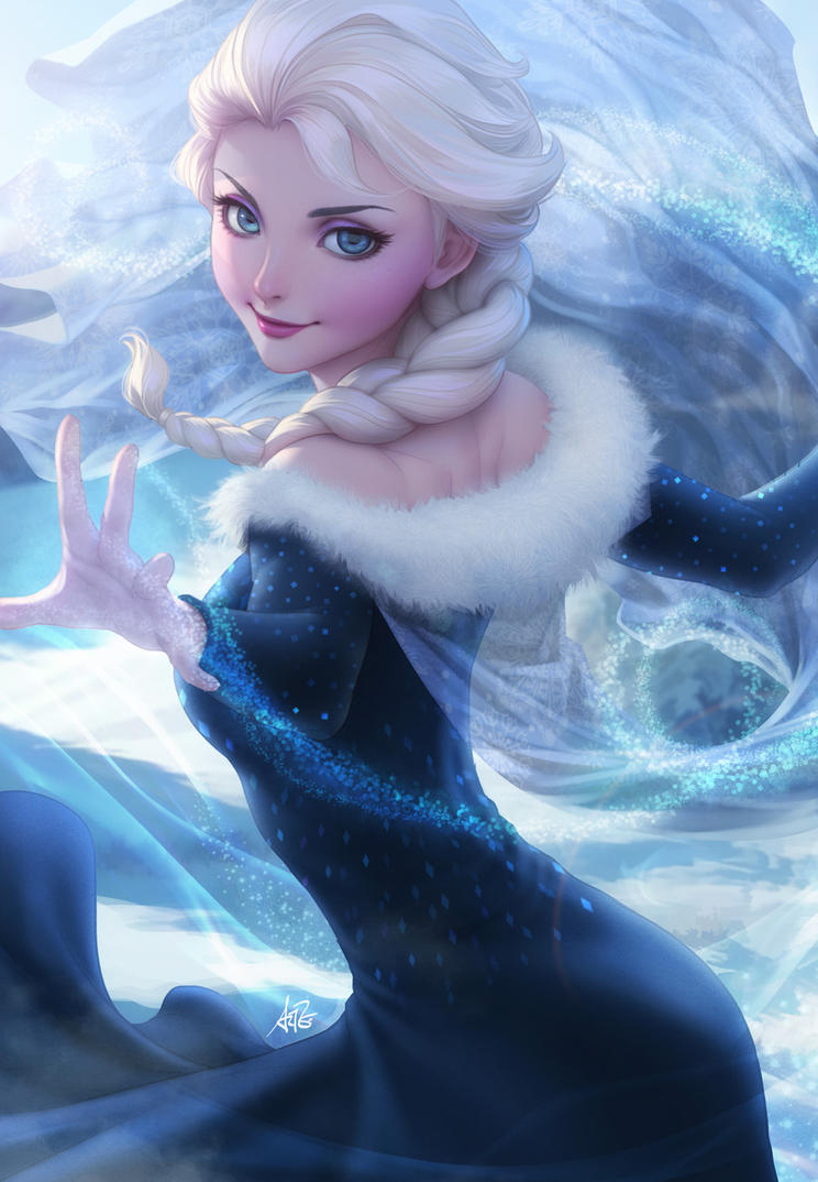 Elsa's New Dress by Artgerm