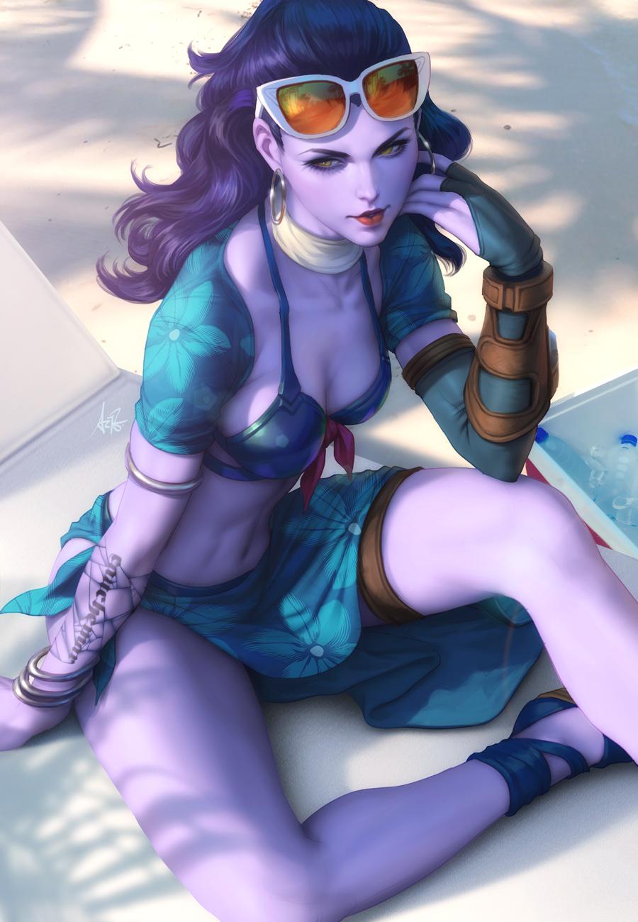 Widowmaker Summer by Artgerm