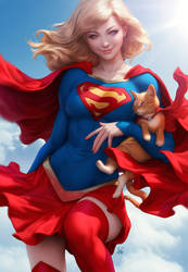 Supergirl and Streaky