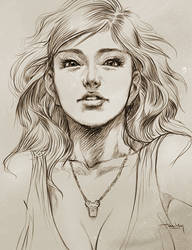 Pepper Sketch II by Artgerm
