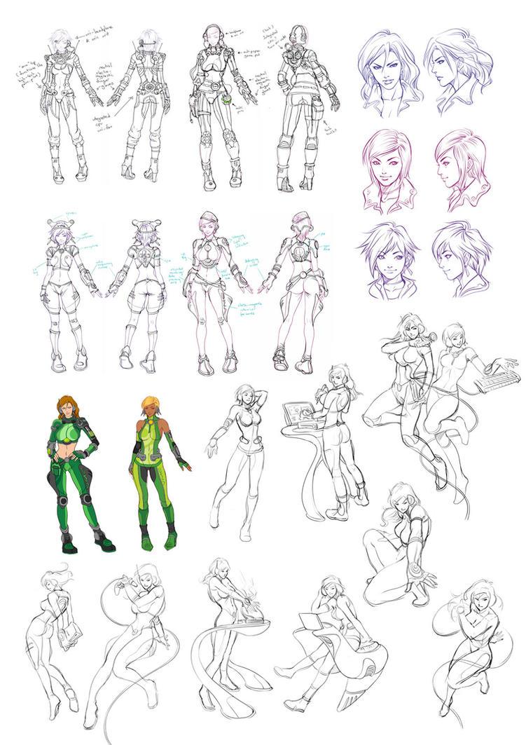 VMC Development sketches by Artgerm