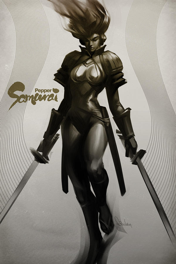 Pepper Samurai by Artgerm