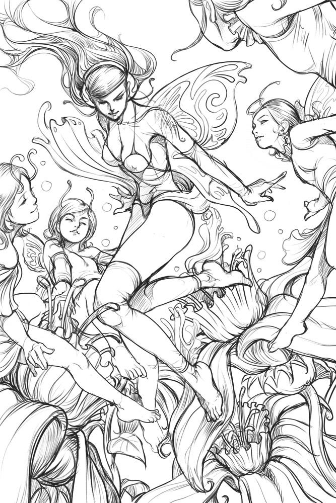 Pepper Fairies - Sketch by Artgerm