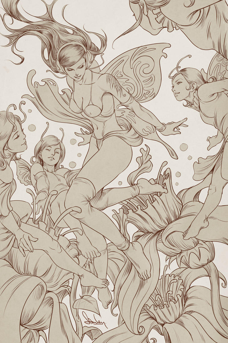 Pepper Fairies - Lineart by Artgerm