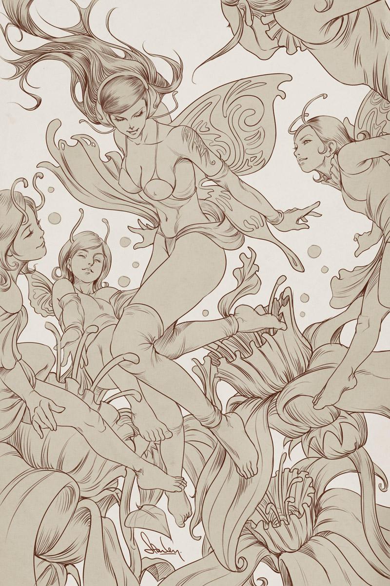 Pepper Fairies - Lineart by Artgerm