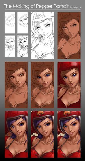 Pepper Portrait - Process
