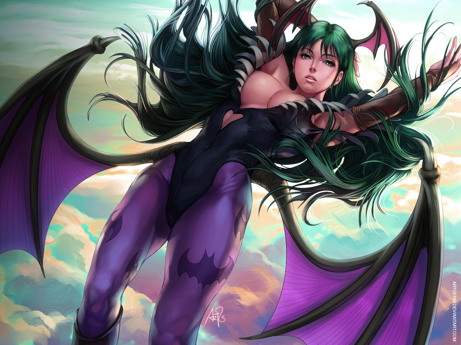 Morrigan Wallpaper by Artgerm