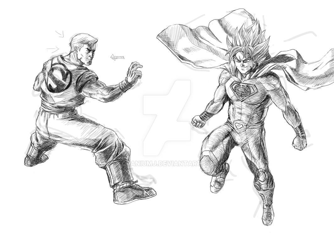 Goku Vs Superman Swap Wip By Craniumj On DeviantArt