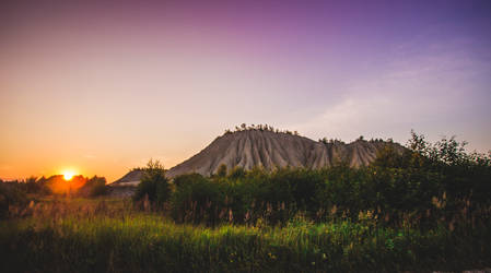 Sand mountain sunrise