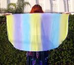 Ameynra bellydance fashion striped mini veil