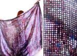 Ameynra bellydance fashion sparkly multicolor veil